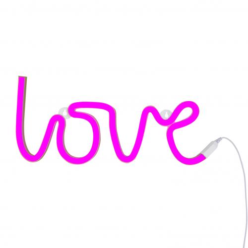 Neonlicht Love pink