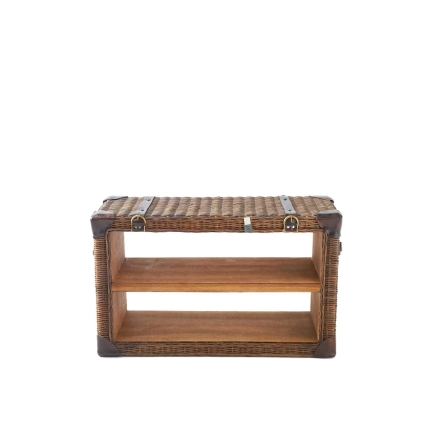 Rustic Rattan First Class End Table