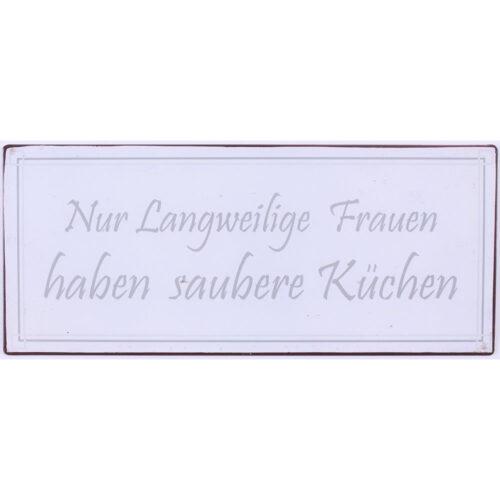 """Blechschild """"Saubere Küchen"""""""