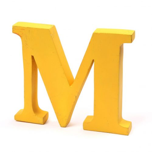 Holzbuchstaben M