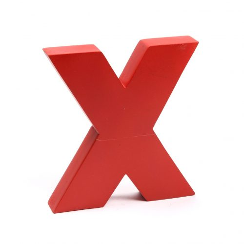 Holzbuchstaben X