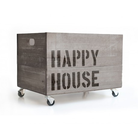 Holzkiste Happy House