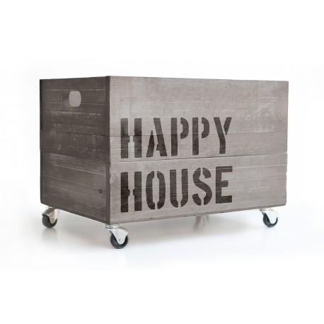 Holzkiste Happy House