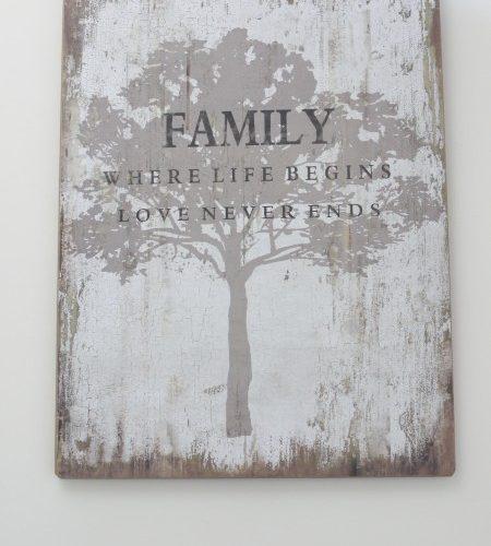 """Holzschild """"Family Tree"""""""